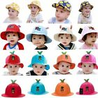 Cap Prink Basin Cap Adjustable Sun Caps Kids Hats Unisex Cotton Baby AB