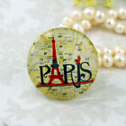 Paris France Eiffel Tower image cabs Handmade glass Photo cabochon 25-30mm30L006