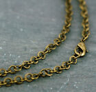 Antique Bronze Plated Bent Round Link Chain Necklace blank jewelry finding cn197