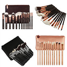 NEW 8 /12 / 15 pcs Face Eye Complete Makeup Brushes Set Kit with Bag Package