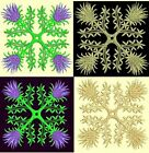 Anemone Quilt Squares 6-DESIGN 4-an Anemone Machine Embroidery single in 4 sizes
