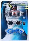 Zoggs High Performance Goggles Fogbuster UV Filter Flexible 3pk Competition Swim
