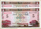 ULSTER bank LTD Belfast £5 five pound banknotes 2013 real currency of ireland