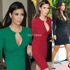 Women's  Vintage Rockabilly Style Keyhole Bodycon Stretch Party Pencil Dress K0E
