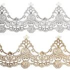 85mm wide Metallic Rayon Embroidery Scalloped Lace Trim Bridal Wedding Belt Lace