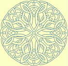 CELTIC QUILT CIRCLE SINGLES -Design 5- from Anemone Machine Embroidery-4 SIZES