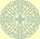 CELTIC QUILT CIRCLE SINGLES -Design 14- from Anemone Machine Embroidery-4 SIZES
