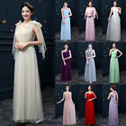 Women's Formal Long Dress Prom Evening Party Cocktail Bridesmaid Wedding Gown