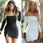 Women Sexy Bodycon Bandage Evening Cocktail Party Long Sleeve Mini Pencil Dress