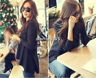 New Korean Women's Lady Long Sleeve Loose Irregular Hem Blouse Tops T-shirt YAN1