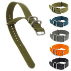 Heavy Military Style Watch Band XL Nylon Webbing Oval Loops 18mm - 24mm C050
