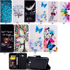 Patterned Leather Wallet Flip Case Cover For Samsung Galaxy A3 A5 J3 J5 J7 2017