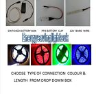 LED STRIP LIGHTS  KITS BATTERY OPERATED 9V & SWITCH OR WITHOUT, DIY CAR