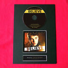 JUSTIN BIEBER Believe Album Signed CD COVER MOUNTED A4 Autograph Print 14