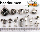 13Pcs Mixed Coffee Cup Cocktail Wine Glass Beverage Cup Charms Pendants Beads