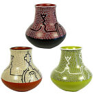 NEW!  Shipibo Polychrome Rounded Pot with Stove Stack Top  from Peru Fair Trade