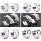 Fashion Men Women Abrazine Rhinestone Stainless Steel Charm Stud Earrings