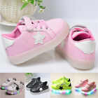 Fashion Kids Girls Boys Luminous LED Light Up Sneakers Trainers Shoes Flats