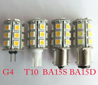 3W T10/G4/BA15S/BA15D Car Boat Bulb 24-5050SMD Led Light Lamp White/Warm 12-24V