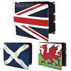 Mens Quality LEATHER WALLET by Retro with UK Flags SCOTLAND WALES & UNION JACK