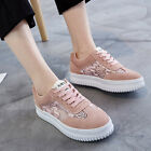 Fashion Womens Leisure Sneakers Mesh Lace up Round toe Platform School Shoes New