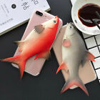 For iPhone 7 7 Plus 6S 6 Plus Funny 3D Lifelike Fish Phone back Cases cover