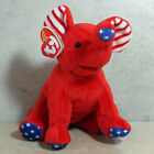 Ty Beanie Baby Righty 2.0 - MWMT  (Elephant 2008) Patriotic