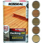 Ronseal Ultimate Protection Decking Oil Stain Wood 5L Oak Cedar Teak Natural....