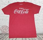 New Coca-Cola Coke Heather Red Mens Vintage Retro T-Shirt $18.95  on eBay