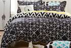 triangle black quilt cover set / geometric doona cover set / optional accessory