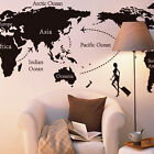 New World Map Wall Stickers Decal Mural Art Diy Office Wall Art Home Accessaries