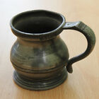 Antique early 1900s half gill pewter pub measure Height 6cm Had a few knocks<br/>Pewter - 1214