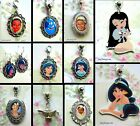 PRINCESS TIANA JASMINE ALADDIN POCAHONTAS CHARM NECKLACE PENDANT LOCKET EARRINGS