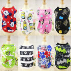 2017 New Small Pet Dog Puppy Tops Cartoon Printed Vest Clothes Outfits