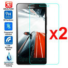 2PCS Premium Tempered Glass Film Screen Protector Cover For Lenovo Cell Phone 9H
