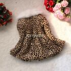 Leopard Faux Fur Girls Fleece Lined Coat Kids Winter Warm Outerwear Jacket Y329