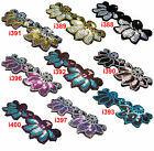 Sew On+10 Color Silver Gold Turqouise Purple Starlight Sequin Applique Flower x1