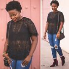 Women's short Sleeve Casual Dolman Lace Loose T-Shirt Batwing Tops Spring TXCL01