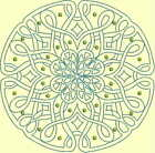 CELTIC QUILT CIRCLE SINGLES -Design 2- from Anemone Machine Embroidery-4 SIZES