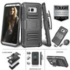 Black Holster Clip Case For Samsung Galaxy S8 / S8 Plus TOUGH IMPACT Resistant