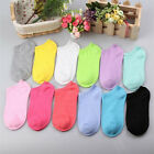 Hot Low Cut 10 Pairs Womens Candy Colors Casual Short Cotton Boat Ankle Socks