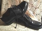 Merona Comfort Gel Men's Black Oxford Dress Shoes Tie Up Size 8