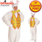 CA200 Deluxe Easter Bunny Rabbit Mascot Suit Fancy Dress Up Adult Costume Outfit