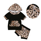 2pcs Set Toddler Baby Girl Summer Clothes Casual Shirt Top+Shorts Hooded Outfits