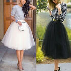 Womens Girls Princess Ballet Tulle Tutu Skirt Mini Dress Wedding Prom Rockabilly
