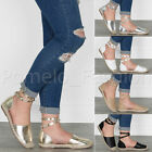 WOMENS LADIES WRAP AROUND STUDDED ANKLE STRAP SUMMER ESPADRILLES SANDALS SHOES