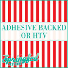 Red & White Stripes Pattern #1 Adhesive Craft Vinyl or HTV for Shirts!