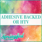 Watercolor Pattern #1 Adhesive Craft Vinyl or HTV for Craft, Shirts and More!