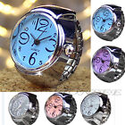 NEW Fashion Geneva Women Stainless Steel Dial Quartz Analog Finger Ring Watch US image