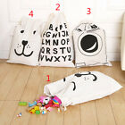 Thboxs Cotton Canvas Printing Bag Pouch Clothes Baby Kids Laundry Storage